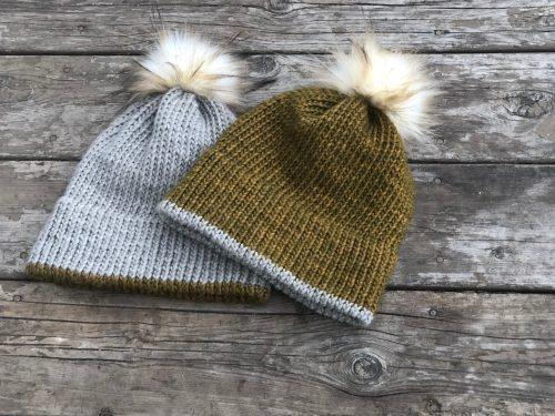 Double Brim Hat Knitting Pattern (Written pattern and
