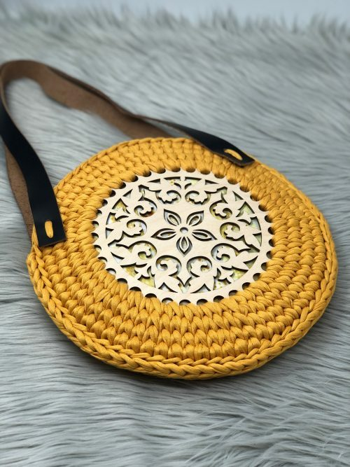 Crochet Wooden Circle Bag Free Video Tutorial Knitcroaddict