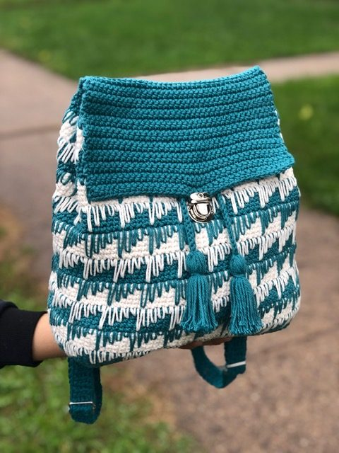 Knitcroaddict crochet backpack