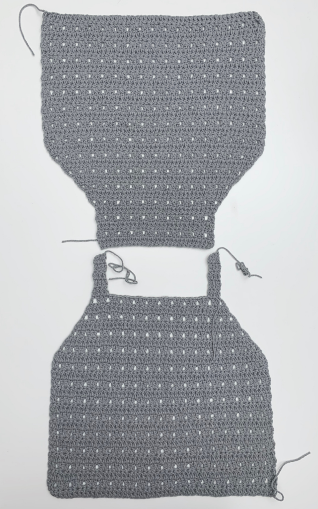 crochet halter top photo instructions sewing the shoulder straps