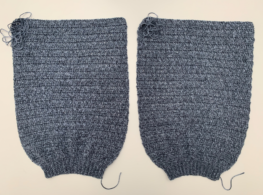 finished sweater sleeves