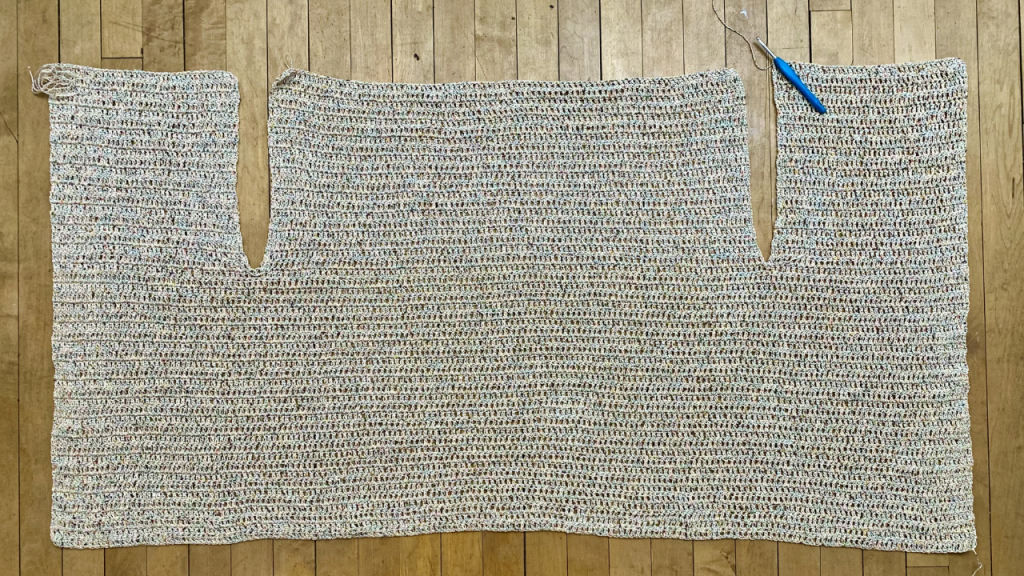 the completed full panel of your crochet kimono cardigan