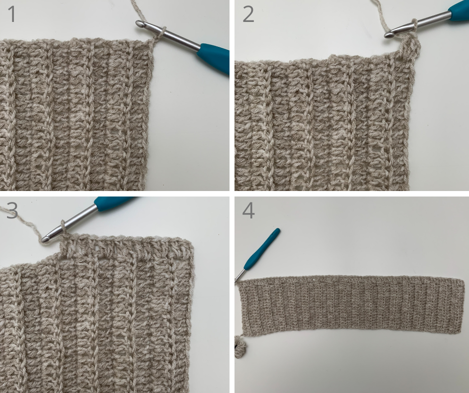 beginning the crochet turtleneck pattern body panels