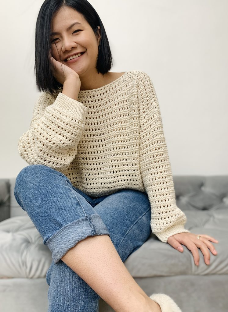 Loving my knitted sweater, it's so comfy and fashionable.