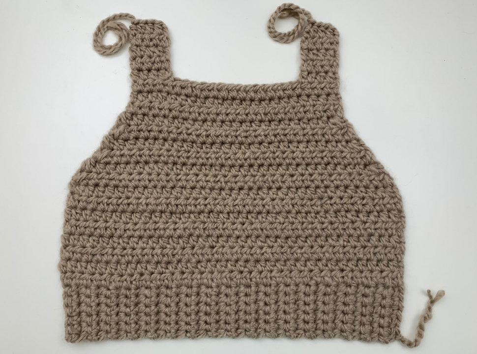 Adding the upper parts to your crochet sweater vest